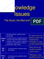 ToK Knowledge Issues. Ppt