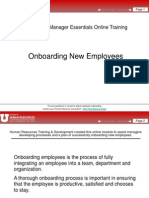 On Boarding New Employees