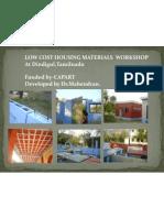 Cost Effective and Alternate Technologies  Workshop at Dindigul,Gandhigram,Tamilnadu Workshop.