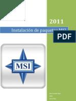 Instalación de paquetes MSI