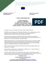 PLEA for EUROLAND (Van Rompuy, Presidente UE)