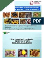 Dña. LUCILA QUINTANA. Presidenta de Conveagro (Convención Nacional del Agro Peruano). Perú. América.