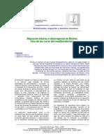 Migracion Interna e Intraregional en Bolivia Victor Vacaflores