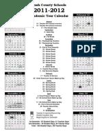 Academic Year Calendar 2011 2012