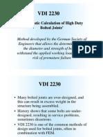 Norma VDI 2230 Estimación Tornillos (Inglés)