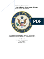 Fannie and Freddie Executive Compensation Staff Report from the House Oversight Committee