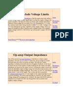Common Mode Voltage Limits
