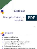 3. Descriptive Statistics--Numerical Measures