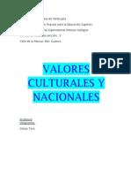 VALORES CULTURALES