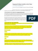 7 Common Project Management Problems