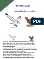 Fábula águila y gallina