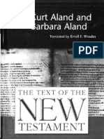 The Text of the NTestament - Critical Editions and Modern Textual Criticism