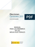 Manual Mesas Elector Ales Elecciones Generales 2011