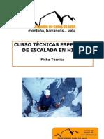 Ficha_Tecnica - Curso Escalada en Hielo - Tecnicas Especiales