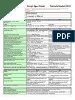 Design Spec Sheet 2010
