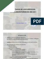 Elvira Reina_Resultados ejercicios Interlaboratorios 2011