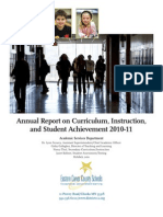 District 112 2010-11 Report on Curriculum, Instruction, and Achievement