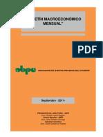 Boletín Macroeconómico - Septiembre 2011