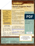 November 14 Honors Newsletter