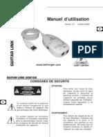 Guitare Adaptateur USB BEHRINGER UCG102