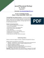 Advanced Placement Biologystex