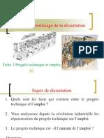 TD  - Apprentissage de la dissertation- Progrès technique et emploi
