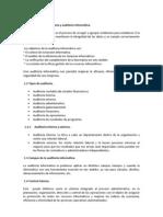 Conceptos de auditoría y auditoria Informática