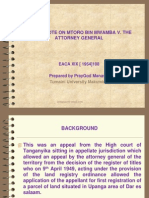 A Case Note on Mtoro Bin Mwamba V