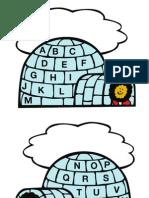 Icy Alphabet File Folder Game