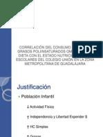 Correlacion Omega 6 Estado Nutricio Guadalajara