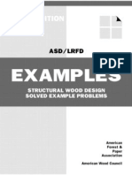 ASD&LRFD Structural Wood Design Solved Example Problems, 2005 Edition
