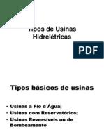 Tipos de Usinas Hidrelétricas