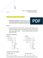 Razonamiento Aritmetica e Historia de La a