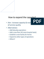 How to Expand the Capacity