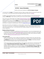 CIS 182 - Course Orientation
