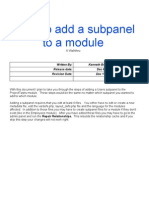 SugarCRM Edit or Create Subpanels
