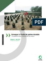Rapport Arnaque Huile de Palme Durable Mai 2011