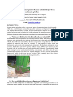 Role of Conservation Machinery in Agriculture