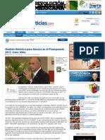 16-11-11 Gestion Historica Para Sonora en El Presupuesto 2012