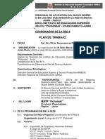 Plan de Trabajo III Taller Macro Regional 2011