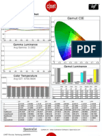 Samsung LN40D550 CNET review calibration results