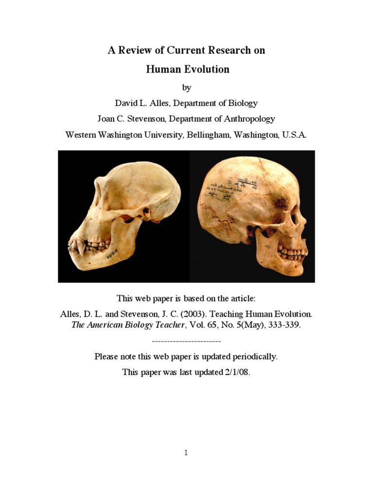 human evolution research paper