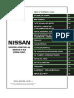 Manual Nissan Tsuru SERIE B13 Con OBD