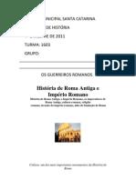trabalho sobre guerreiros romanos