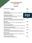 lunch menus 2011