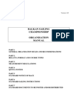 Balkan Sailing Championship Organization Manual