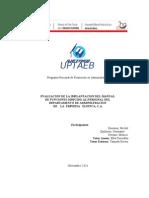 Evaluacion de Manual de Funciones