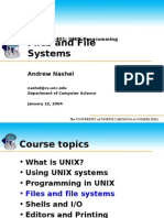 Unix Programming - Files & File Systems (the University of North Carolina of Chapel Hill)