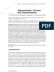 1. Extrusion-Spheronization Process Variables and Characterization