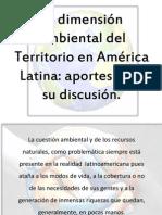 La dimensión Ambiental del Territorio en América Latina